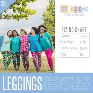 LuLaRoe Pants - Lularoe Halloween TC leggings